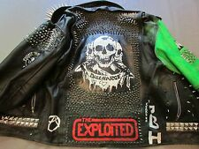 Punk Studded Real Leather Jacket Hand-Made Original Armour