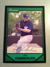 Indians JOBA CHAMBERLAIN 2007 Bowman Draft Picks Rookie Card #BDP18 RC Yankees