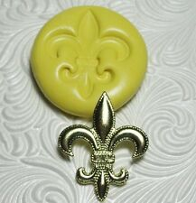 Silicone Resin Polymer Clay Fondant Flexible Push Mold FLEUR DE LIS 2006