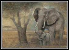 The Gentle Elephant - Cross Stitch Chart/Pattern/Design/XStitch