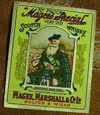 VERY OLD SCOTCH WHISKY - VINTAGE LABELS - MAGEE, MARSHALL & CO LTD BOLTON LANCS