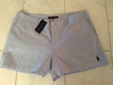 NWT POLO SPORT RALPH LAUREN LADIES BLUE COTTON SHORTS 10 PONY