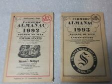 Vtg Old Farmers Almanac Book Lot of 2 Weather Forecast Vintage Ads 1992 1993