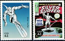 Silver Surfer Set of 2 Scarce MNH US Postage Stamps Scott's 4159F and 4159P