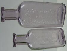 2 1890's Purple Medicine Bottles Lawrence Smith Apothecary New Brighton, PA