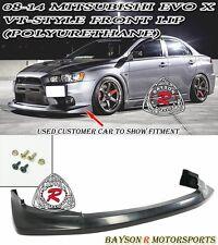 VT-Style Front Lip (Urethane) Fits 08-15 Mitsubishi EVO X 10 [EVO BUMPER ONLY]