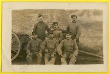 cpa MILITAIRES SOLDATS du 32e Régiment Affut CARTE PHOTO ecrite vers 1900