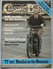 Classic Bike magazine 10/1983 featuring Mondial, Velocette, BSA