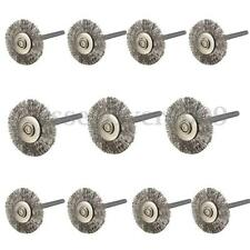 20x Stainless Steel Wire Wheel Brushes For Dremel Die Grinder Rotary Tools New