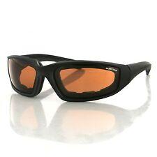 Bobster Eyewear, Foamerz2 Sunglass, Blk Frame, Anti-fog Amber, ANSI Z87 - ES214A
