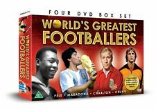 World's Greatest Footballers [4 DVDs] NEU Diego Maradona, Pele, Fußball DVD