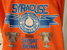 Original Vtg Large 1988 Syracuse University Orange Sugar Bowl NCAA Sweat Shirt L