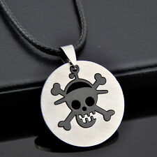 Cool stainless steel pirate skull pendant necklace ST55