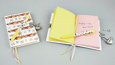 Floss & Rock Butterfly Lockable Diary with Pineapple Scented Pen Children Gift