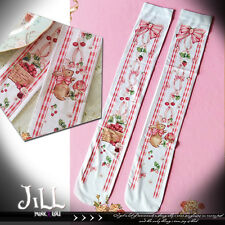 lolita Princess diary Little red riding hood hare picnic knee high socks【JI6201】