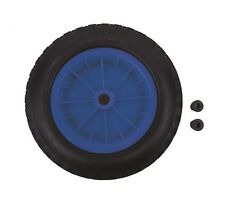 """Pu 14 """"crevaison preuve roue pneu bleu brouette 3.50 - 8 poids léger en mousse"""