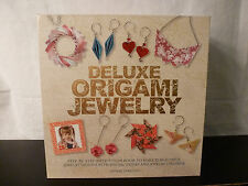 Deluxe Origami jewelry making kit w/ storage box~wire/chain/paper~New~craft set
