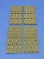 LEGO 4 x Platte 4x8 alt dunkelgrau | basic plate old darkgrey (3035)