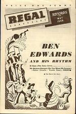 REGAL ZONOPHONE RECORD CATALOGUE SUPPLEMENT 1949 05 MAY ben edwards/gene autry