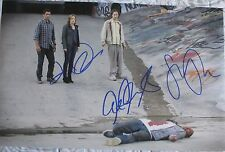 FEAR THE WALKING DEAD CAST SIGNED 11x17 PHOTO CLIFF CURTIS KIM DICKENS +3 DC/COA