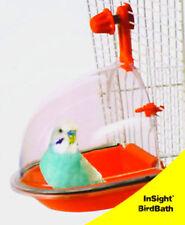 BIRD BATH DELUXE PARAKEET LOVEBIRD FINCH Birds Enrichment Fun Random Color Clear
