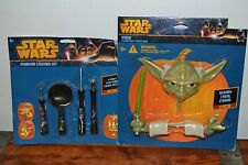 NEW Halloween Pumpkin Push-Ins - Star Wars Darth YODA & Pumpkin Carving Set
