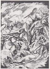 Z346) RESISTENZA, COMBATTIMENTO IN FRIULI 1944. DA UNA PITTURA DI G. TAVAGNACCO.