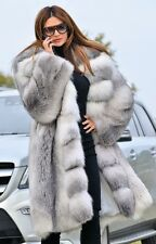 2017 ARCTIC FOX FUR COAT CLAS OF CHINCHILLA SABLE MINK LYNX SILVER JACKET