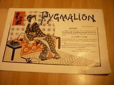 JAPON JAPAN 1911 LES SOIERIES ILLUSTREES EXPO DES GRANDS MAGASINS PYGMALION