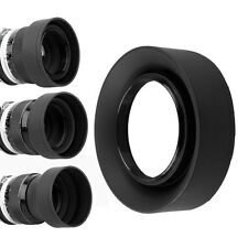 52mm 3-Stage Rubber Lens Hood For Nikon D3000 D5100 D3100 D3200 D60 with 18-55mm