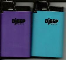 HOT BODY COLORS DJEEP LIGHTER SET OF 2 NEW ONE BLUE AND ONE PURPLE