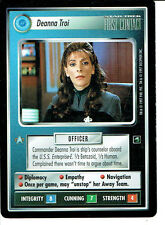 STAR TREK CCG FIRST CONTACT RARE CARD DEANNA TROI