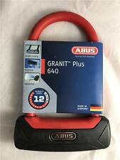 NEW Abus Granit Plus 640 Bike Bicycle U Lock With Lighted Key Black/Red