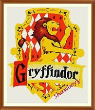 Harry Potter Gryffindor crest badge CROSS STITCH CHART 12.0 x 10.1 Inches