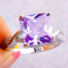 Especial Tourmaline White Topaz Gemstone Silver Wedding Ring Jewelry #7