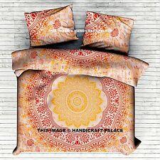 Indian Ombre Mandala Duvet Quilt Cover Comforter Doona Queen Bohemian Bedding