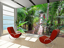 Bridge in a Rain Forest Wall Mural Photo Wallpaper GIANT WALL DECOR PAPER POSTER