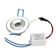 Round 1W LED Downlight Ceiling Recessed Down Light Fixture Lamp Bulb w/ Driver