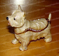 3811 - Bejeweled Enamel WEST HIGHLAND TERRIER Trinket Box (by Kubla Crafts)