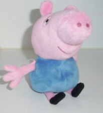 "PEPPA GEORGE PIG plush soft toy doll 7"" tall *** très bon état"
