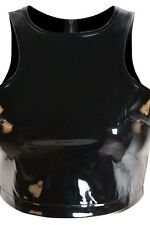 PVC Top in schwarz/ Black PVC Top with back zipper