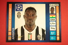 PANINI CHAMPIONS LEAGUE 2013/14 N. 107 ASAMOAH JUVENTUS BLACK BACK MINT!