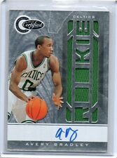 (T163) 10-11 Avery Bradley Totally Certified #171 AUTO JERSEY RC #D 77/575
