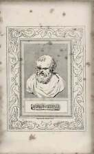 1835 Engraved Portrait Democritus  G Cooke