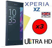 3x HQ ULTRA CLEAR HD SCREEN PROTECTOR COVER FILM GUARDS FOR SONY XPERIA XZ