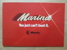 MORRIS MARINA Range orig 1974-75 UK Mkt Sales Brochure - Ref 2968/C