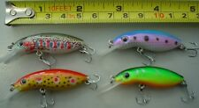 4 bass bream trout  fishing lures brand new 45mm minnow