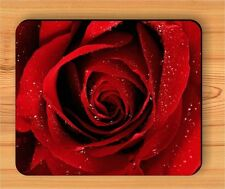 FLOWER RED ROSE BUTTON FOR LOVER MOUSE PAD -bhu5Z