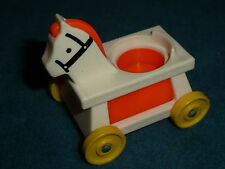 FISHER PRICE LITTLE PEOPLE  KIDDY HORSE CAR MADE IN  U.S.A.