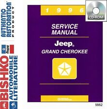 1996 Jeep Grand Cherokee Service Shop Repair Manual DVD Engine Drivetrain Wiring
